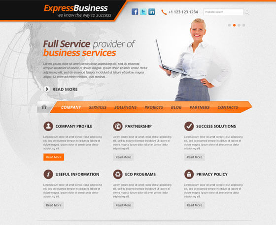 Express Business - Free WordPress Theme