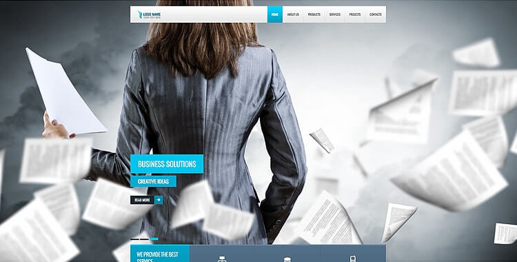 Financial Service - Free Bootstrap Website Template