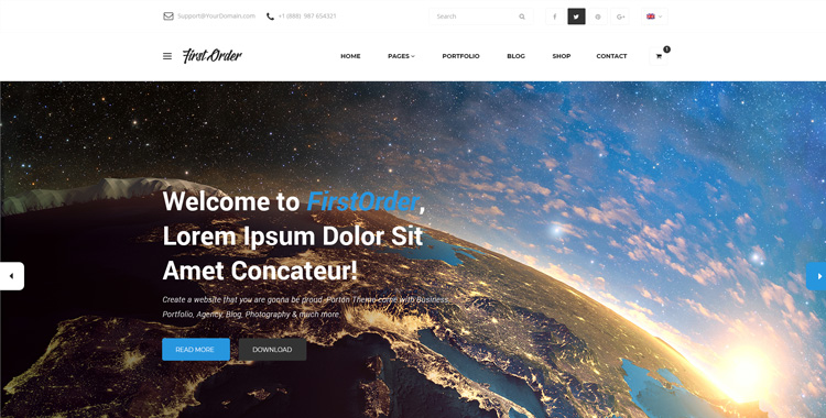 firstorder free bootstrap html template