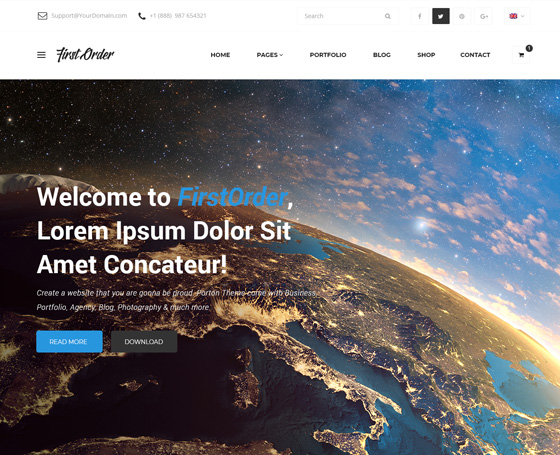 Firstorder Free Html Bootstrap Template