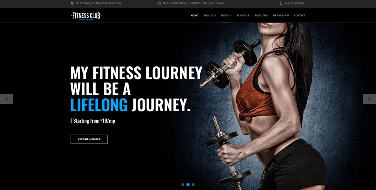 Gym - bootstrap 4 template