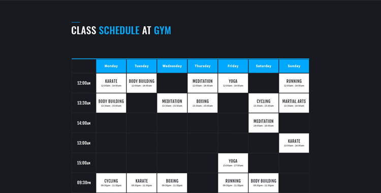 fitness club - bootstrap 4 template