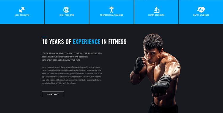 fitness club - bootstrap 4 theme