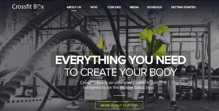 Gym - Responsive bootstrap theme