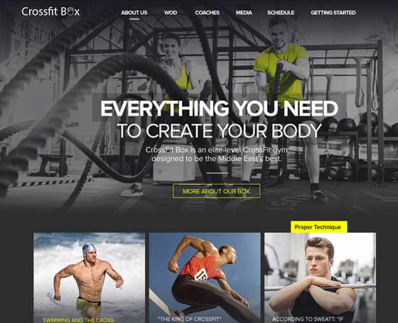 Fitness club Bootstrap theme