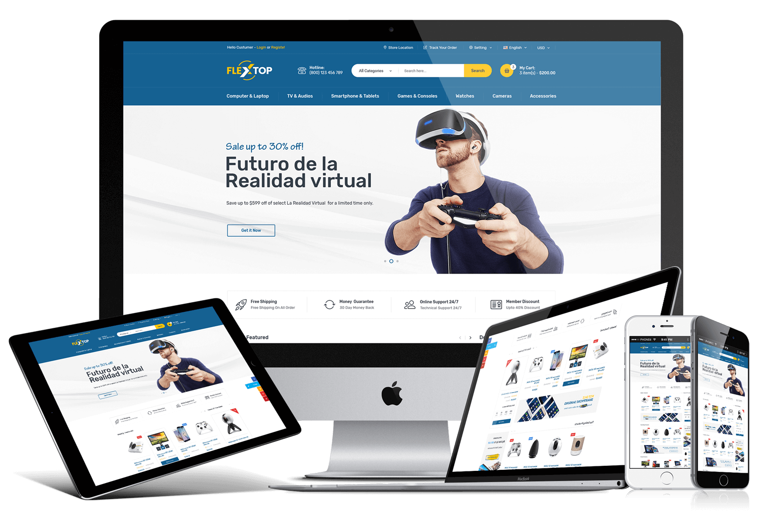 Flextop ecommerce bootstrap template