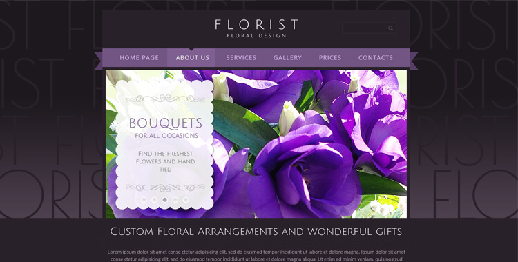florist free bootstrap template