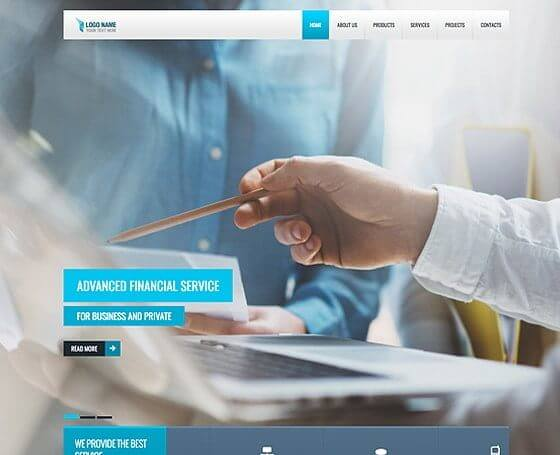 Financial Service - Free Bootstrap Template