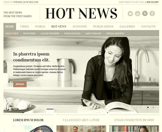 Free Newspaper psd template