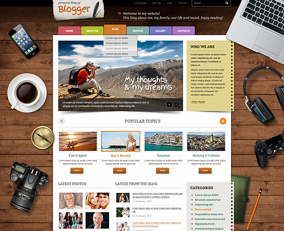Free blogger WordPress theme