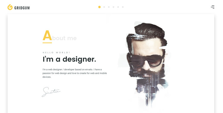 Freelancer Bootstrap 4 template