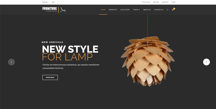 Furniture Store - Bootstrap 4 Theme