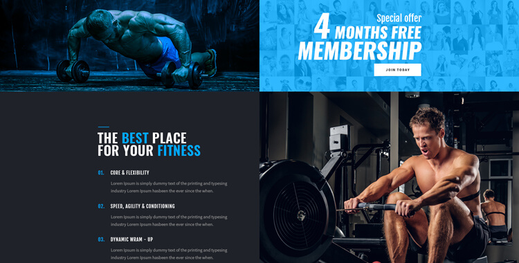 GYM, Fitness club - bootstrap template