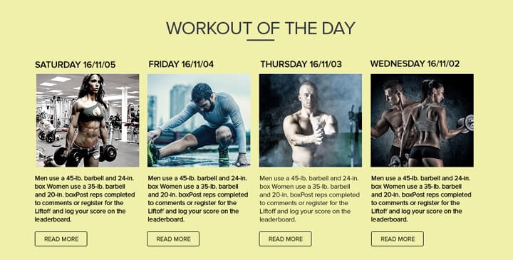 Gym -  bootstrap theme