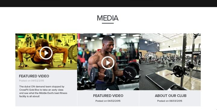 Fitness club  Responsive bootstrap template