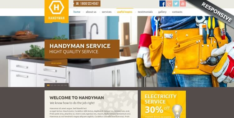 Handyman Service WordPress CMS Theme