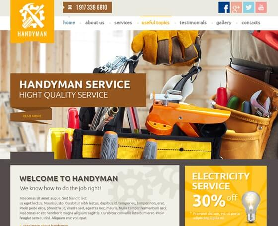 Handyman Service WordPress Theme