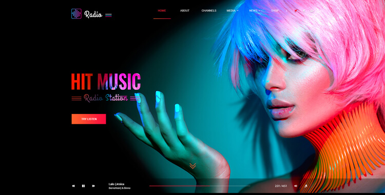 Hit Radio Bootstrap 4 Template