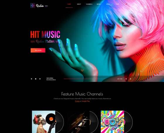 Hit radio Bootstrap 4 Theme
