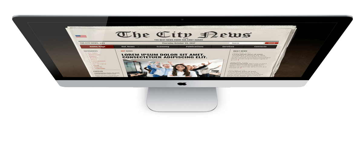 Newspaper free photoshop template