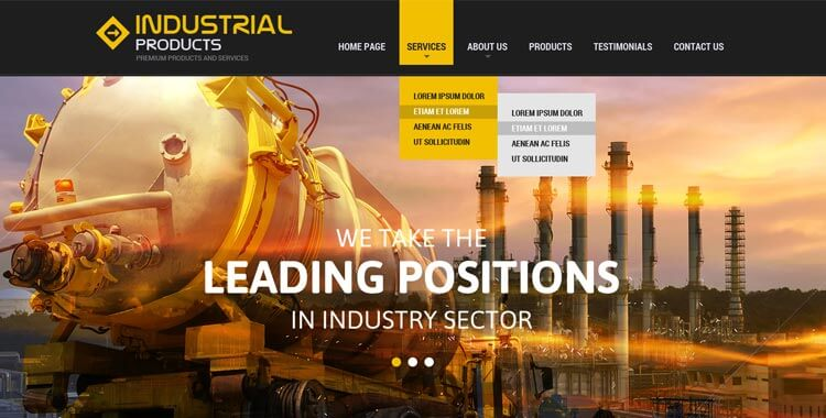 Industrial Responsive Bootstrap Theme