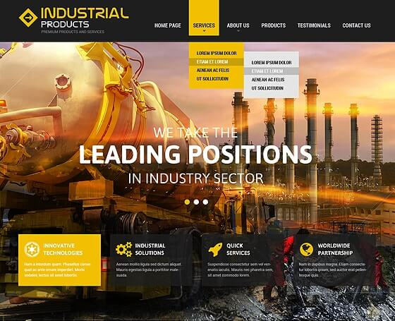 Industrial Bootstrap theme