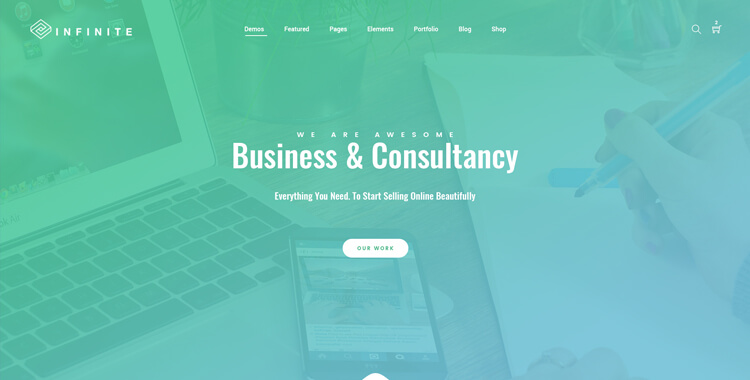 Infinite - Bootstrap Multipurpose Template Green