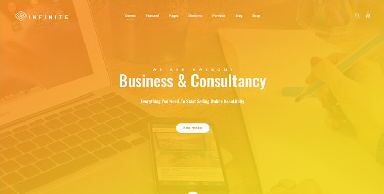 Infinite - Bootstrap Multipurpose Template yellow