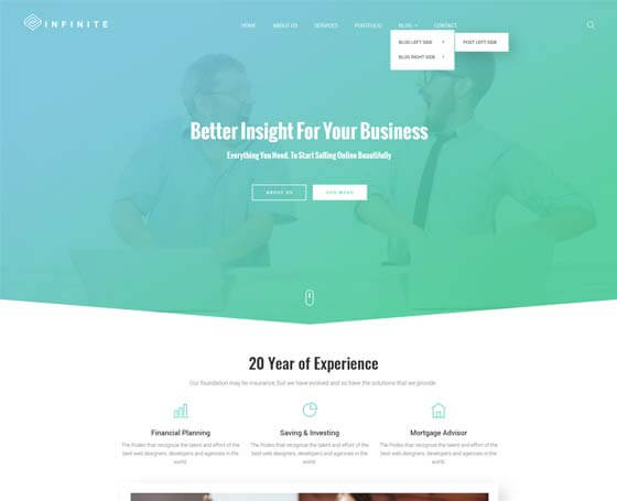 Infinite - Bootstrap Multipurpose Theme
