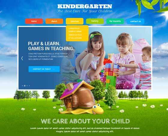 Kindergarten (Kids Land) Wordpress Theme