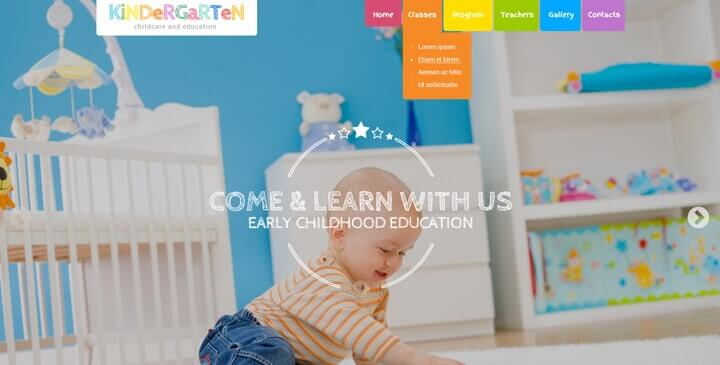 Kindergarten wordpress theme