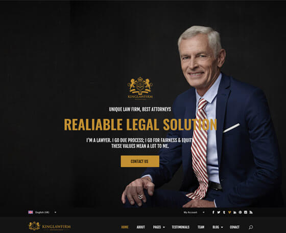 KingLawFirm Bootstrap 4 Template