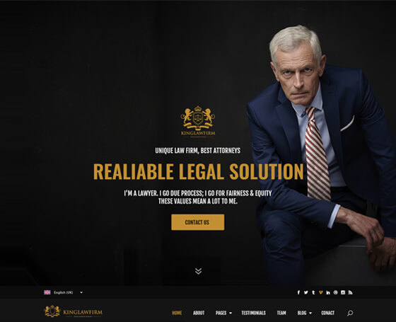 KingLawFirm PSD Template