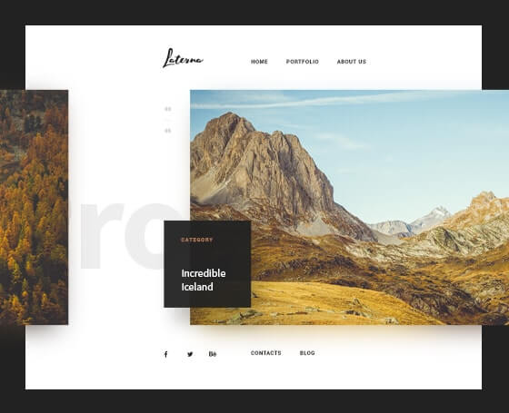 Laterna bootstrap photography theme