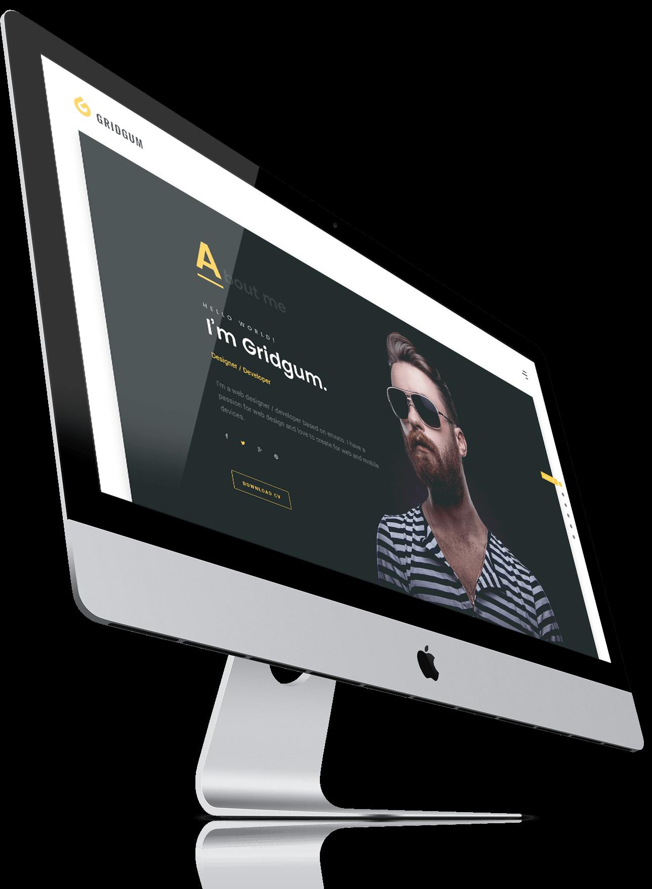 freelancer bootstrap 4 website template gridgum
