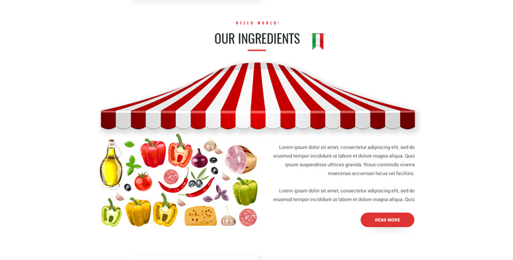 Pizzeria Bootstrap template