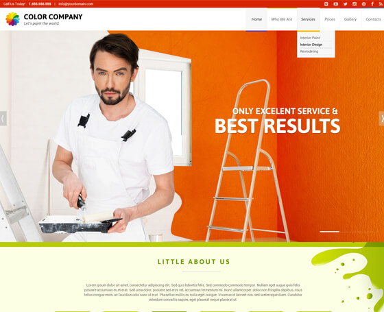 Paint co. landing page template