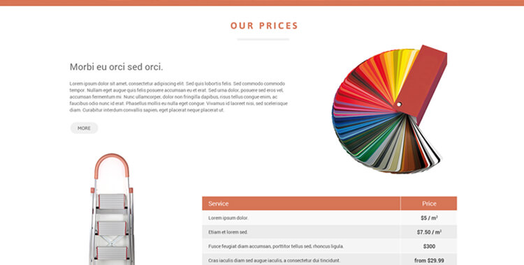 Paint co. landing page bootstrap theme
