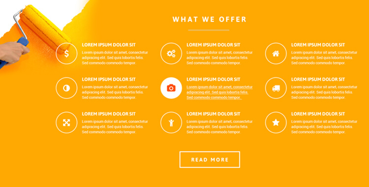 Paint co. landing page theme