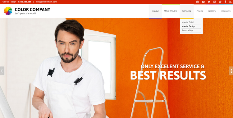 Paint co. landing page bootstrap template