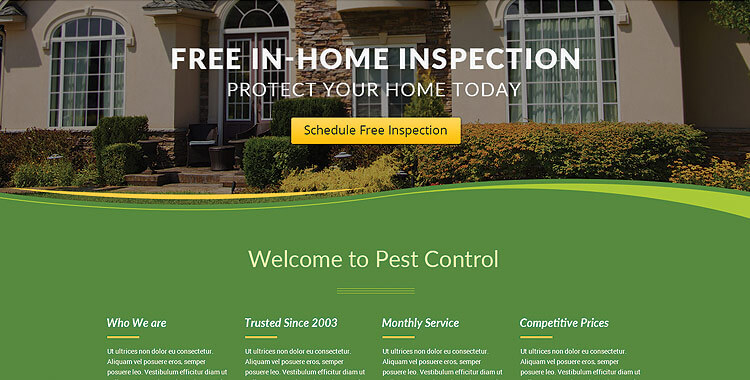 Pest Control - Bootstrap Website Template