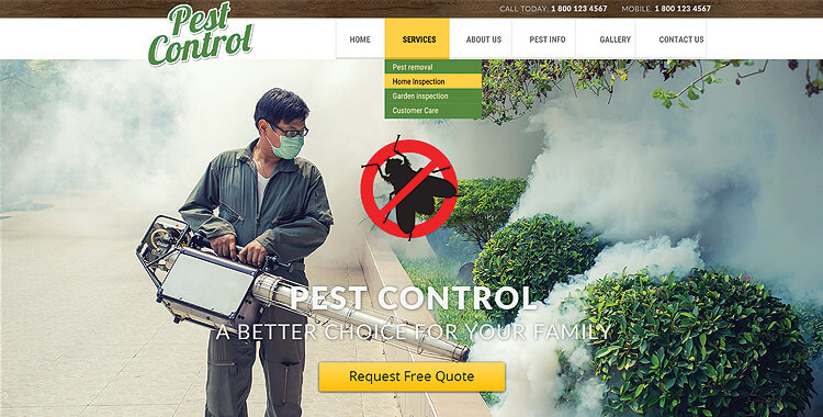 pest control bootstrap template pest control bootstrap website template