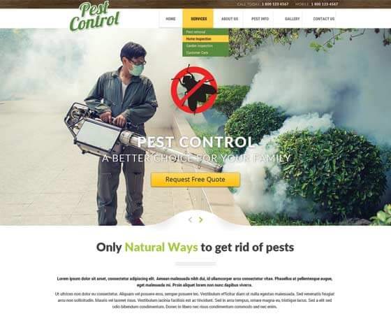 Pest Control - Bootstrap Theme