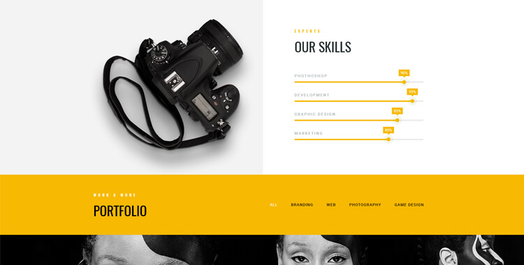 Photo studio Bootstrap 4