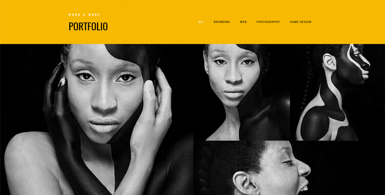 Photo studio Bootstrap 4 website template