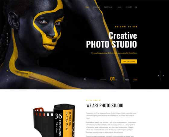Photo studio Bootstrap 4 Template