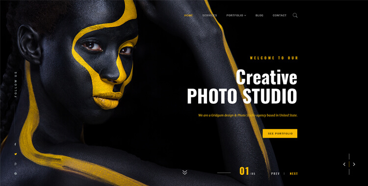 Photo studio Bootstrap 4 Theme
