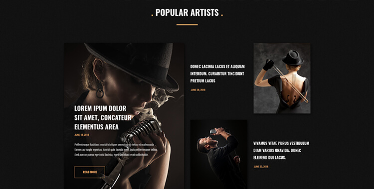 Region Radio - Bootstrap 4 website template | Gridgum