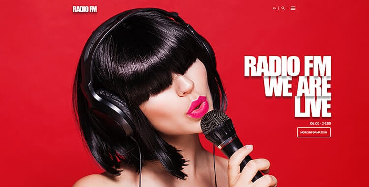 Radio FM and sound recording studio premium WordPress Theme