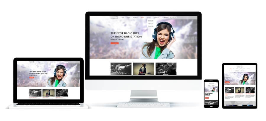Radio One Responsive WordPress Theme